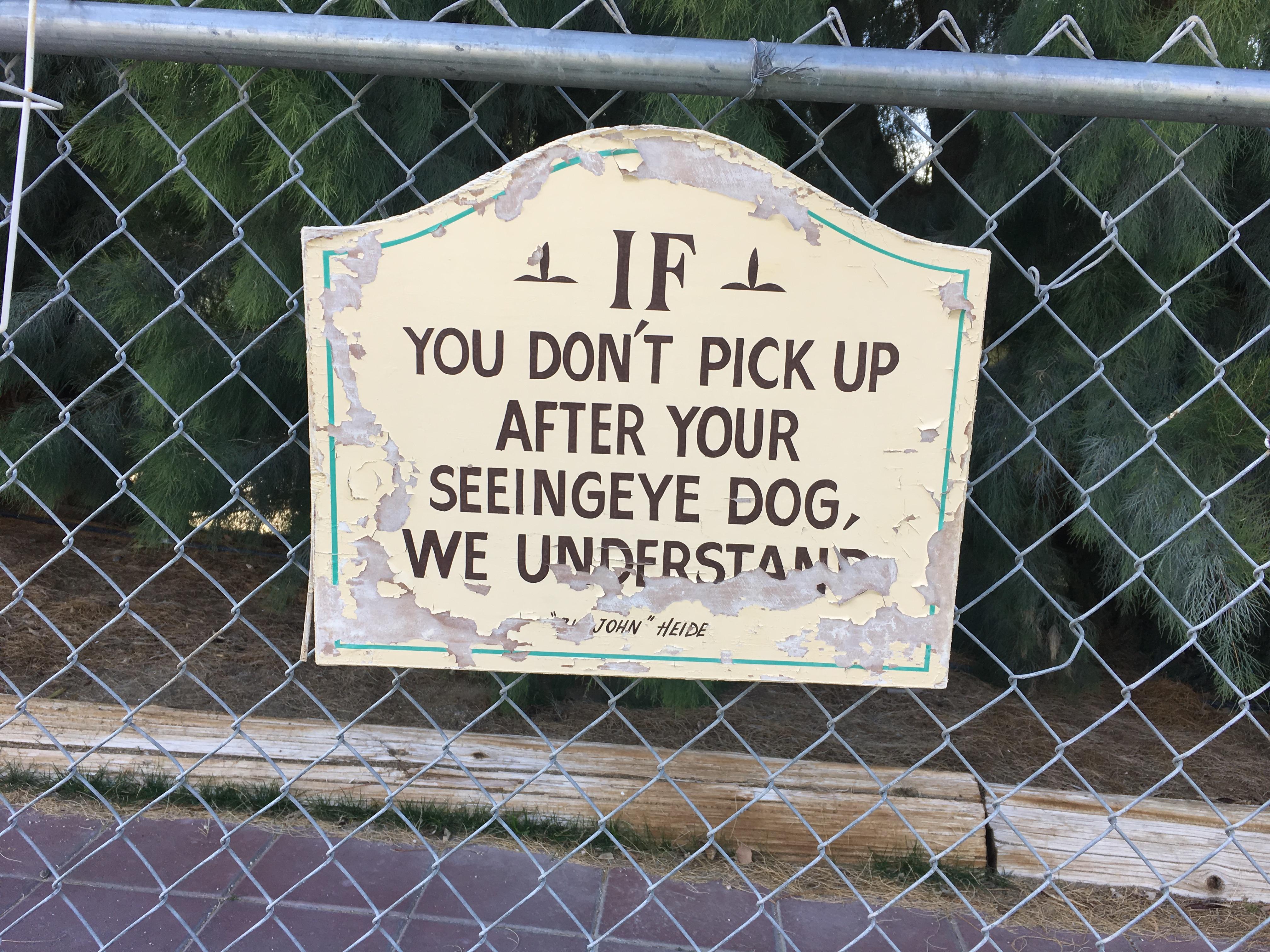 Dog park humor