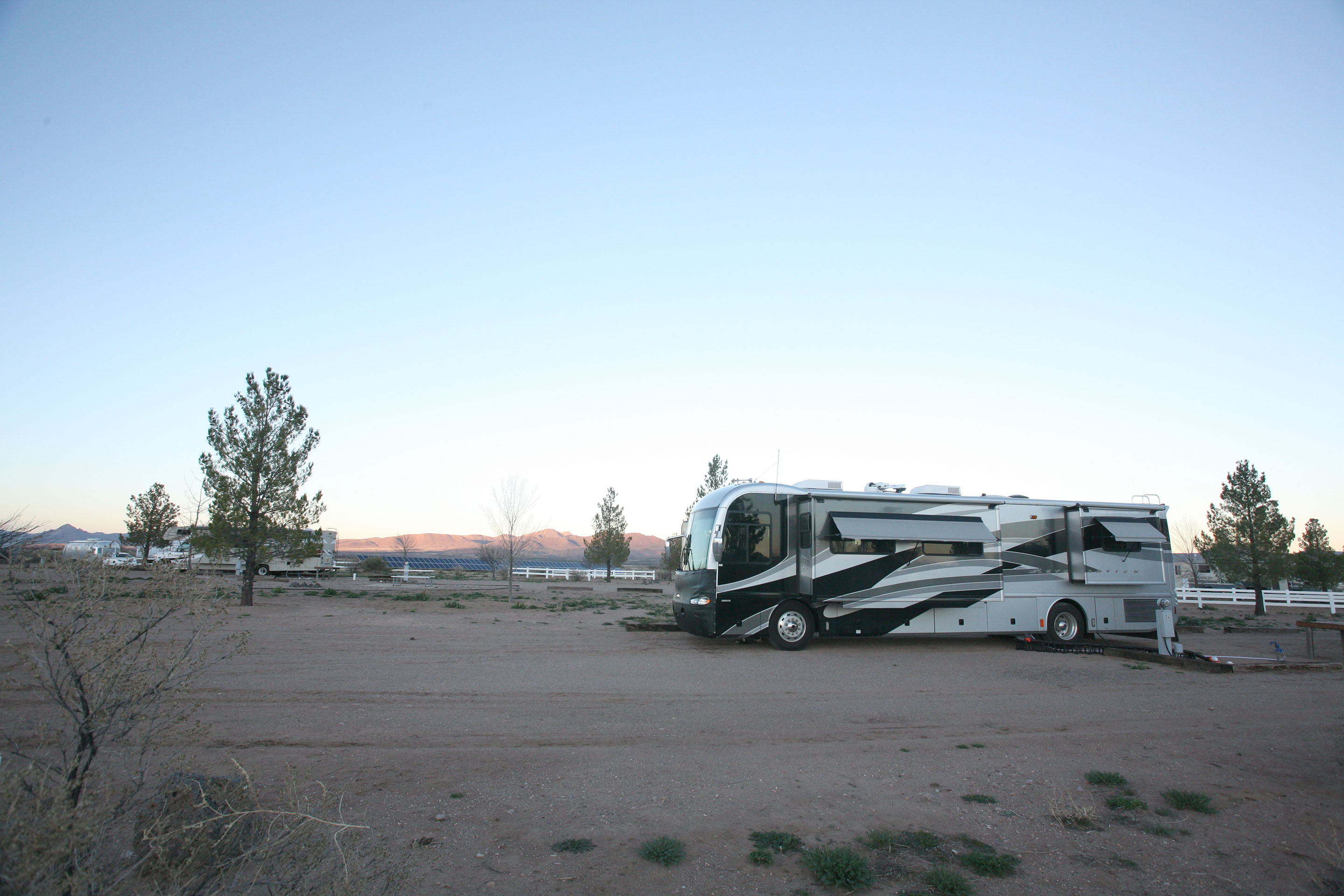 Our RV parked at Rusty's