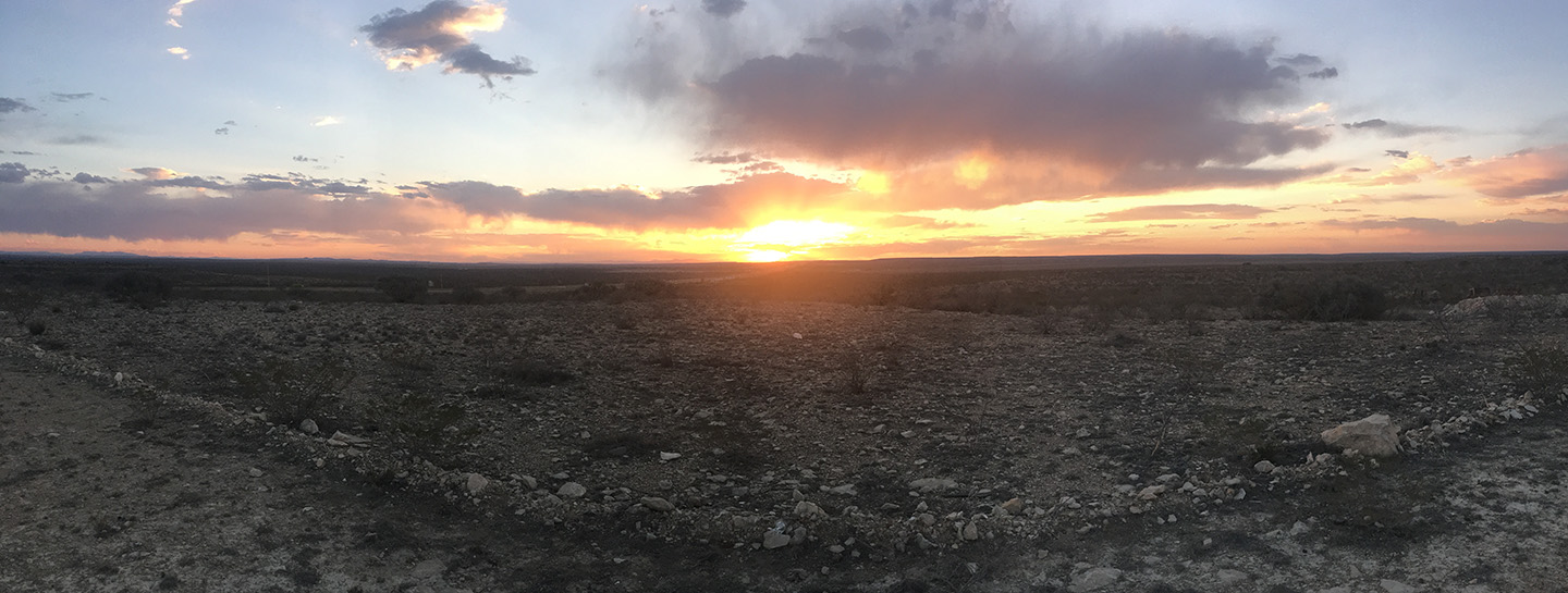 Sunset in Fort Stockton