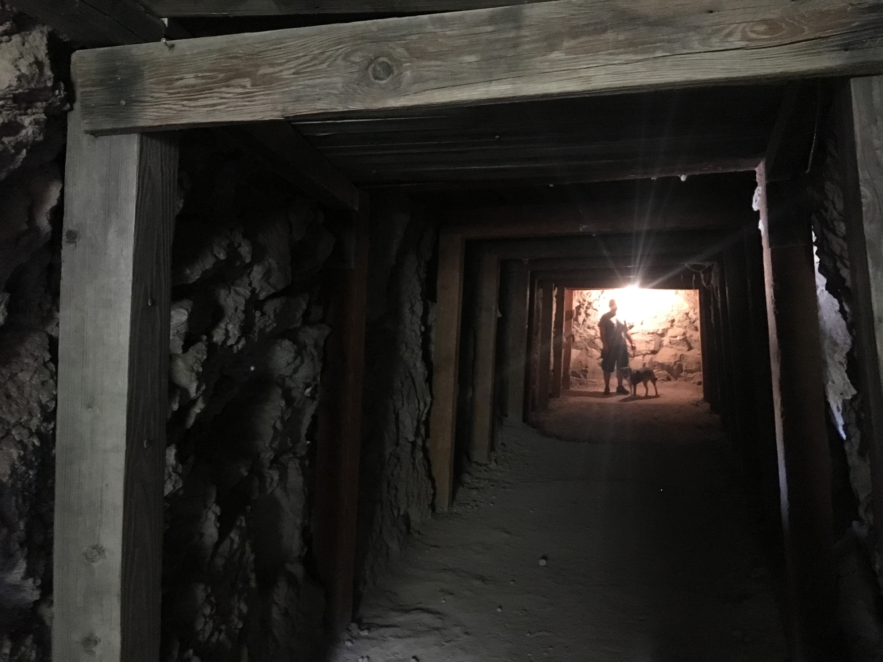 Old mining tunnel