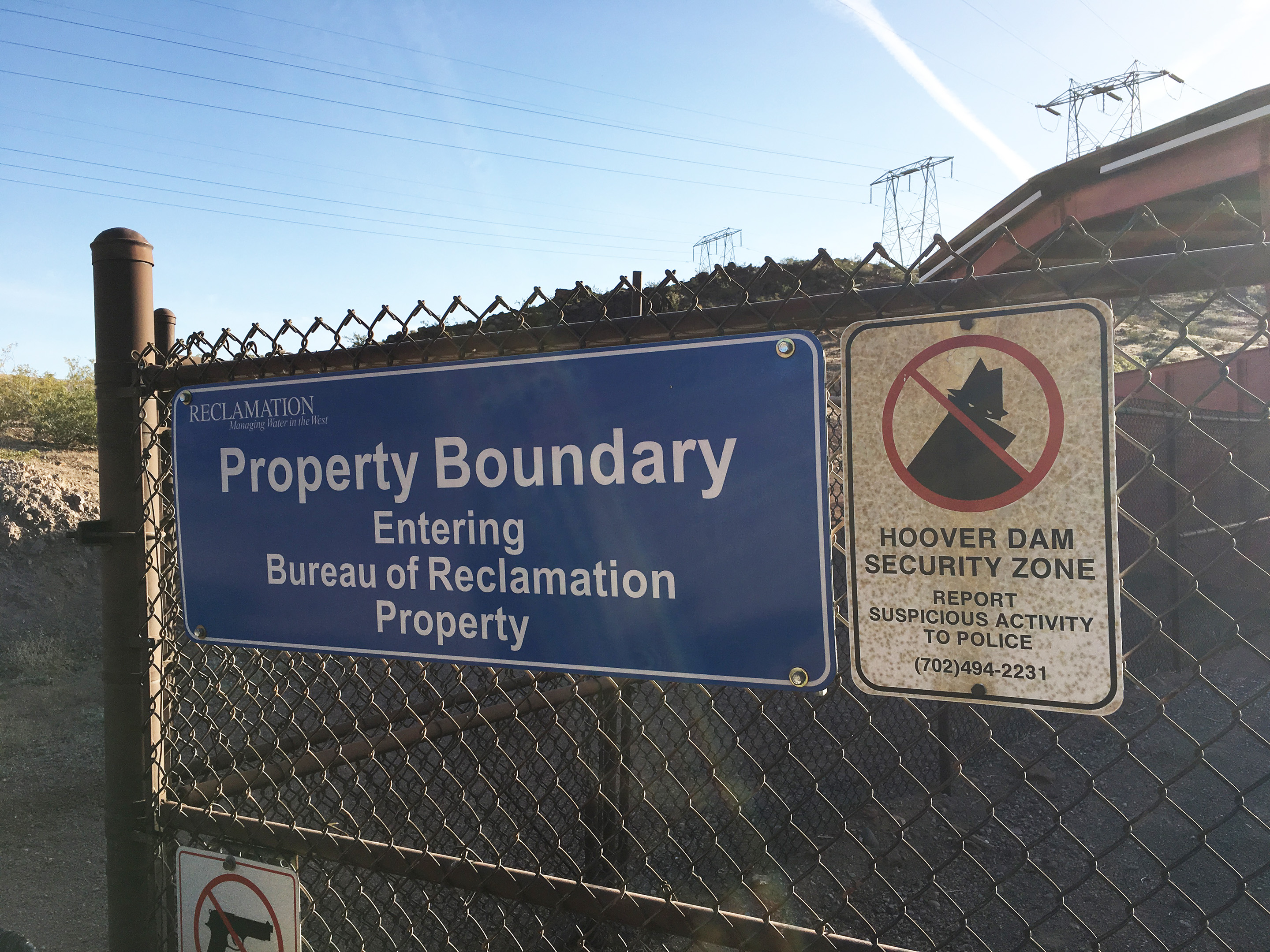 """Entering Bureau of Reclamation Property"""
