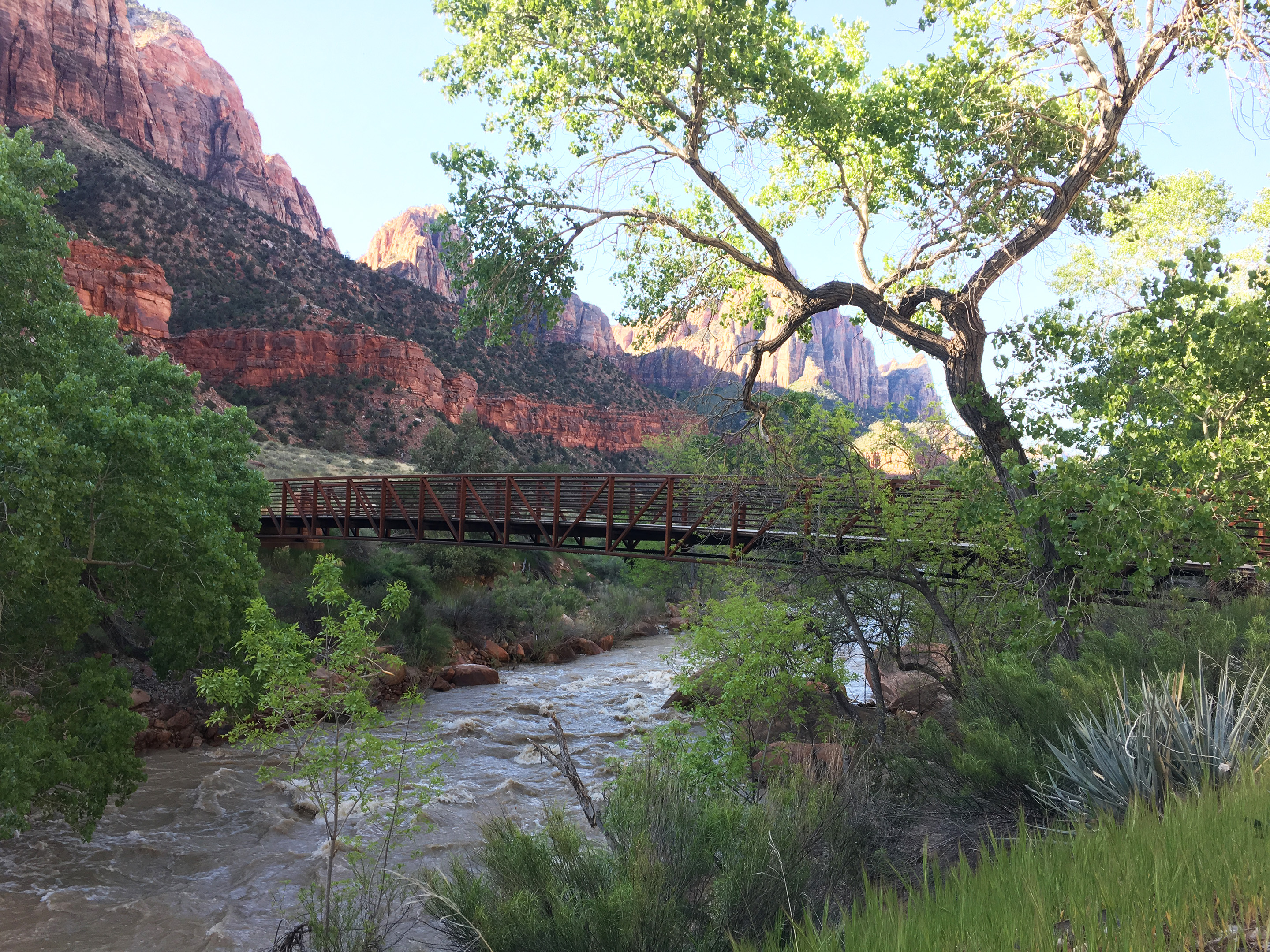 Bridge crossing the Virgin river