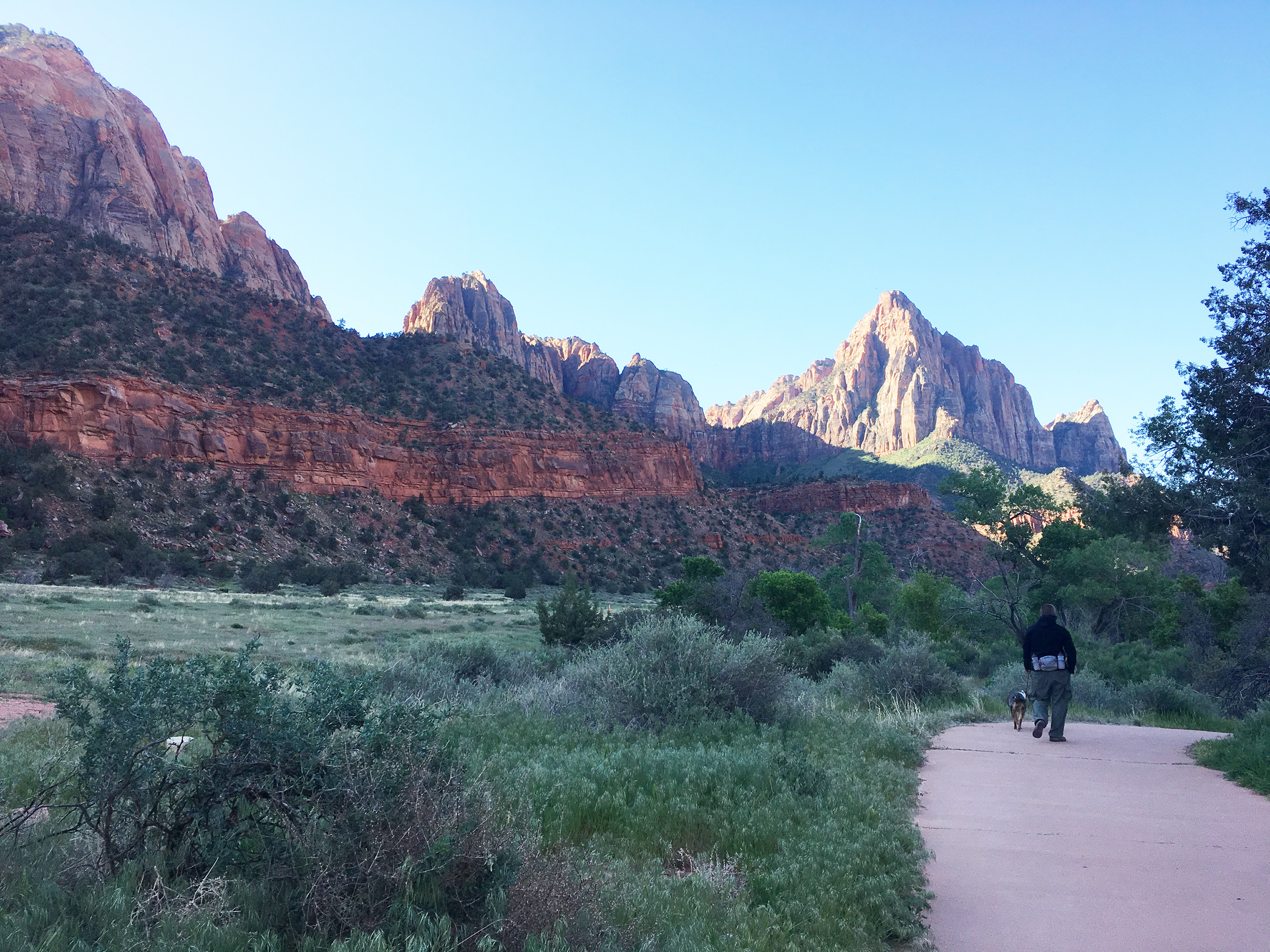 Empty trail at Zion